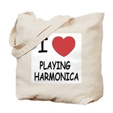 I heart playing harmonica Tote Bag
