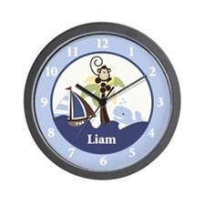 Ahoy Mate Monkey Wall Clock - Liam