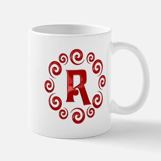 Red R Monogram Mug