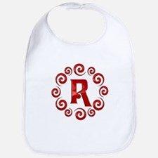 Red R Monogram Bib