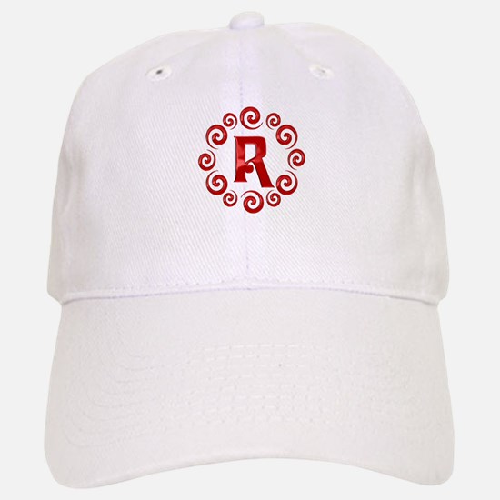 Red R Monogram Baseball Baseball Cap