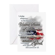 US Pledge - Greeting Card