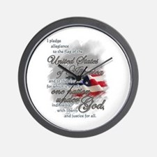 US Pledge - Wall Clock