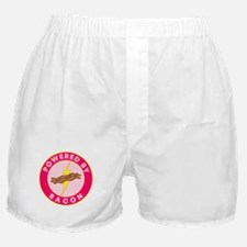 Powered By Bacon (Pink) Boxer Shorts