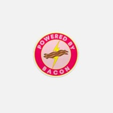 Powered By Bacon (Pink) Mini Button (100 pack)
