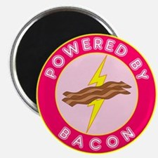 Powered By Bacon (Pink) Magnet