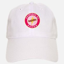 Powered By Bacon (Pink) Baseball Baseball Cap