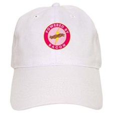 Powered By Bacon (Pink) Baseball Cap