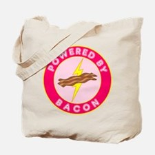 Powered By Bacon (Pink) Tote Bag
