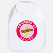 Powered By Bacon (Pink) Bib