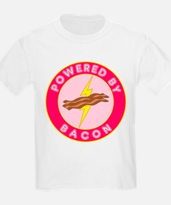Powered By Bacon (Pink) T-Shirt