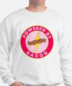 Powered By Bacon (Pink) Sweatshirt