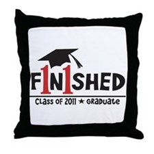 Finished! Graduation '11 Throw Pillow