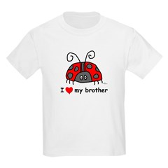 I Love My Brother Kids T-Shirt