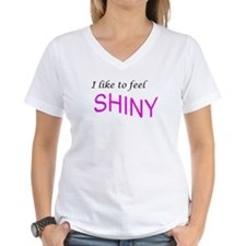 I like to feel shiny Women's V-Neck T-Shirt