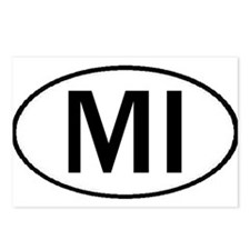 MICHIGAN OVAL STICKERS & MORE Postcards (Package o