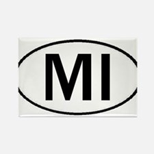 MICHIGAN OVAL STICKERS & MORE Rectangle Magnet