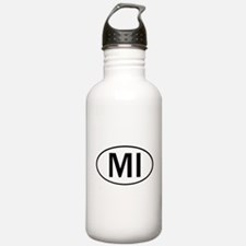 MICHIGAN OVAL STICKERS & MORE Water Bottle