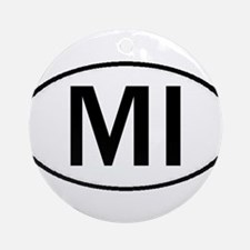 MICHIGAN OVAL STICKERS & MORE Ornament (Round)