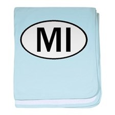 MICHIGAN OVAL STICKERS & MORE baby blanket