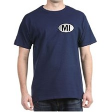 MICHIGAN OVAL STICKERS & MORE T-Shirt