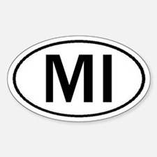 MICHIGAN OVAL STICKERS & MORE Decal