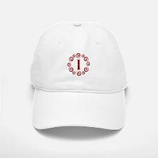 Red I Monogram Baseball Baseball Cap