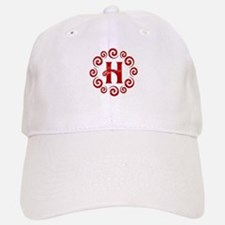 Red H Monogram Baseball Baseball Cap