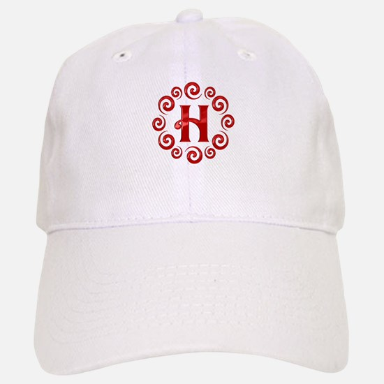 Red H Monogram Baseball Baseball Cap