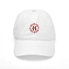 Red H Monogram Baseball Cap