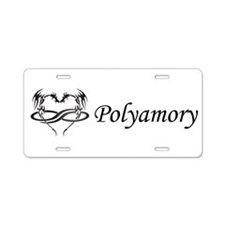 PolyDragon Polyamory Aluminum License Plate