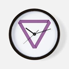 Poly Purple Mobius Wall Clock