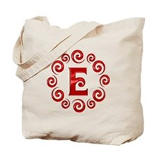 Red E Monogram Tote Bag