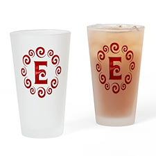 Red E Monogram Pint Glass