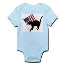 Cat American Flag Infant Bodysuit