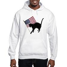 Cat American Flag Hoodie