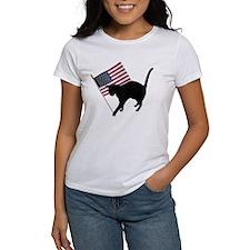 Cat American Flag Tee