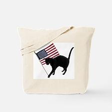 Cat American Flag Tote Bag