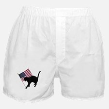 Cat American Flag Boxer Shorts