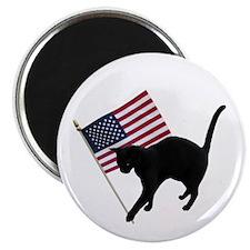 Cat American Flag Magnet
