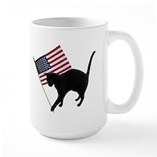 Cat American Flag Mug