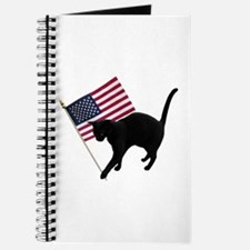 Cat American Flag Journal