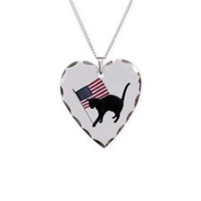 Cat American Flag Necklace