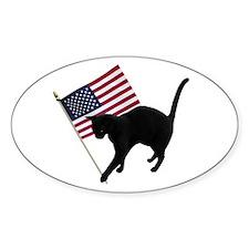 Cat American Flag Decal
