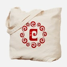 Red C Monogram Tote Bag