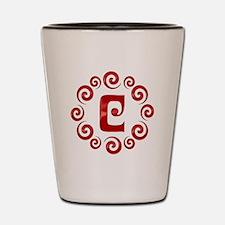 Red C Monogram Shot Glass