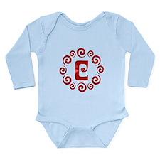 Red C Monogram Long Sleeve Infant Bodysuit
