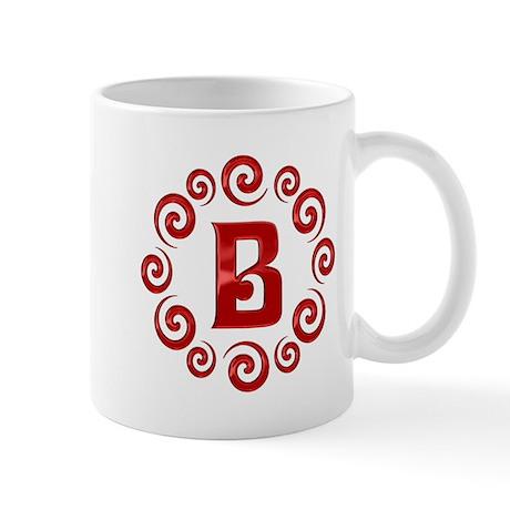 Red B Monogram Mug