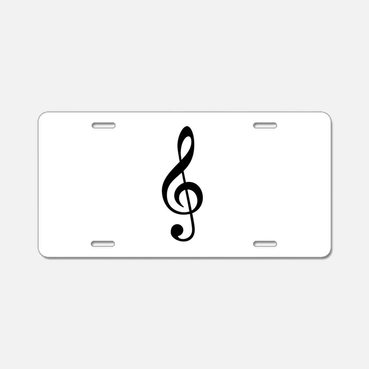 G Clef / Treble Clef Symbol Aluminum License Plate