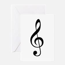 G Clef / Treble Clef Symbol Greeting Card